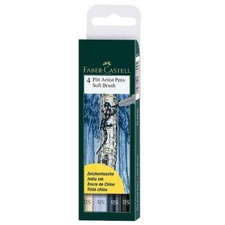 Faber Castell puha ecsetfilc 4db