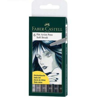Faber Castell puha ecsetfilc 6 db