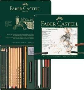 Faber-Castell Pitt Monochrome 21 db-os készlet - nyitott