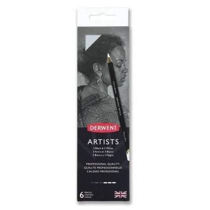 Derwnet Artists fekete-fehér ceruza készlet