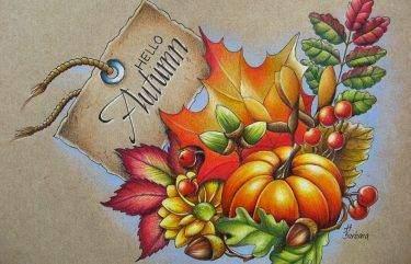 Őszi levelek színezése