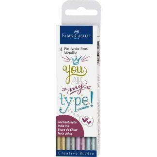 Faber-Castell PITT szépírás filc készlet metál színek