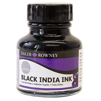 Daler-Rowney Simply BlackIndia Ink fekete tustinta