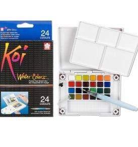 Sakura Koi akvarell festék 24 db-os készlet