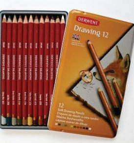 Derwent Drawing 12 db-os színes ceruza készlet, nyitott doboz