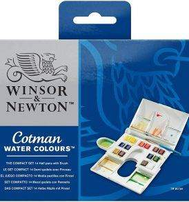Winsor & Newton Cotman 14 db akvarellfesték