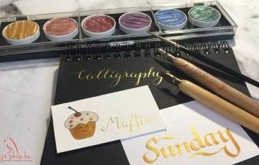 Kalligráfia Pearlcolors akvarell festékkel