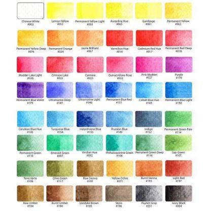 Sakura Koi akvarellfesték színskála 48 színből
