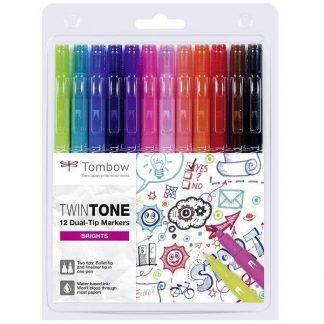 Tombow TwinTone kéthegyű marker - élénk színek