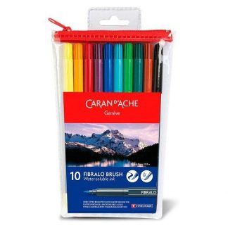 Caran d'Ache Fibralo Brush 10 db-os ecsetfilc-készlet