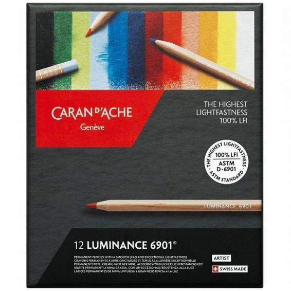 Caran d'Ache Luminance 12 db-os színesceruza készlet