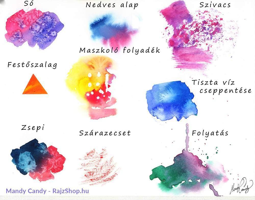 Akvarell festési technikák