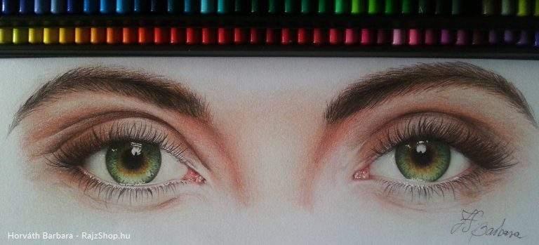 A szem rajzolása, színezése