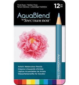 Spectrum Noir AquaBlend 12db-os akvarellceruza készlet, élénk színek