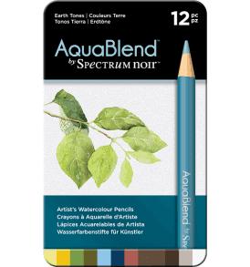 Spectrum Noir AquaBlend 12db-os akvarellceruza készlet, földszínek