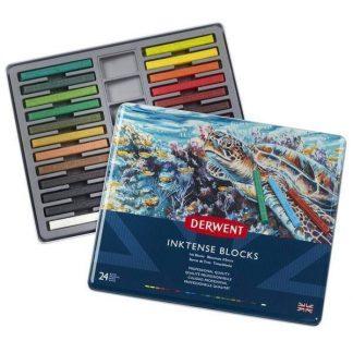 Derwent Inktense Blocks 24 db-os akvarellkréta készlet