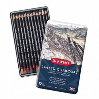 Derwent színzett széncruza készlet