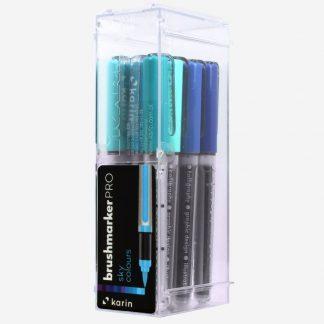 Karin Brushmarker PRO 12 db-os készlet, kék árnyalatok