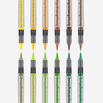 Karin Brushmarker PRO 12 db-os készlet, természet színei