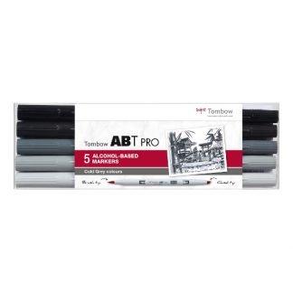 Tombow ABT PRO 5 db-os hideg szürke árnyalatok