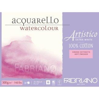 Fabriano Artistico 100% pamut akvarellkarton, melegen préselt