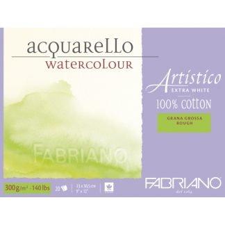Fabriano Artistico 100% pamut akvarellkarton, textúrált felületű