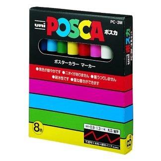 uni POSCA PC-3M 8 db-os alapkészlet