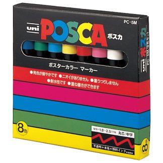 uni POSCA PC-5M 8 db-os alapkészlet