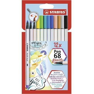Stabilo Pen 68 Brush ecsetfilc, 12 db-os készlet