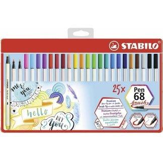 Stabilo Pen 68 Brush ecsetfilc, 25 db-os készlet