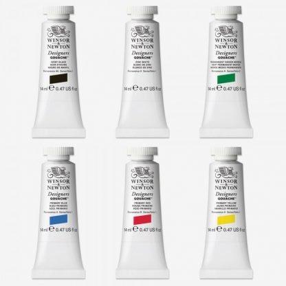 Winsor & Newton Designer's Gouache 6db, színek