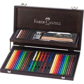 Faber-Castell Art & Graphic Compendium fadobozos készlet, 53 db