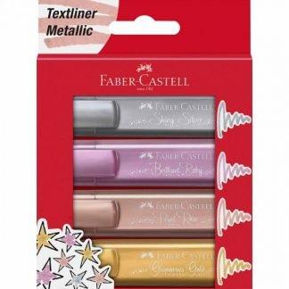 Faber-Castell Textliner 46 metál szövegkiemelő, 4 db