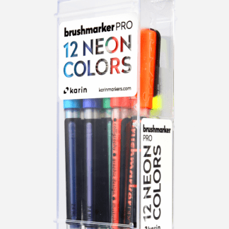 Karin Brushmarker pro készlet neon színek