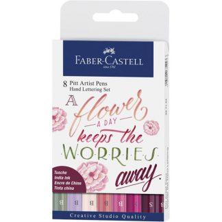 Faber-Castell kézírás szett, rózsaszín árnyalatok