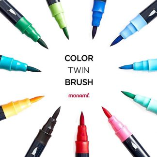 Monami color twin brush