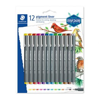 Staedtler Pigment Liner, 12 db-os színes készlet