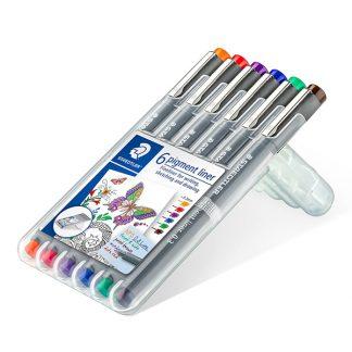 Staedtler pigment liner színes készlet, alapszínek