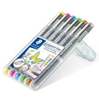 Staedtler Pigment liner, 6 db-os készlet, világos színek
