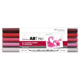 Tombow ABT Pro, 5 db-os készlet, rózsaszín árnyalatok
