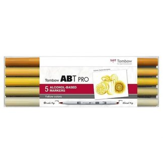 Tombow ABT PRO, 5 db-os készlet, sárga árnyalatok