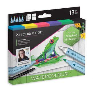 Spectrum Noir Discovery készlet, akvarell marker