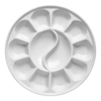 Porcelán paletta, kör, nagy