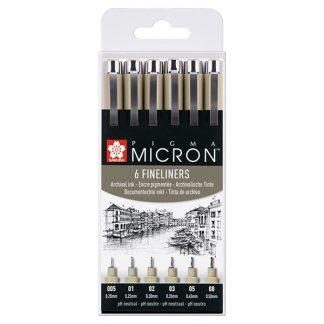 Sakura Pigma Micron Pen, 6 db-os készlet
