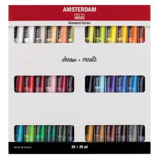 Talens Amsterdam akril, 36 db-os készlet