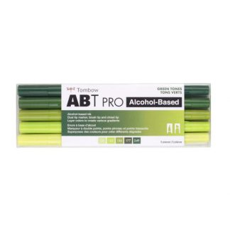 Tombow ABT Pro, 5 db-os készlet, zöld árnyalatok