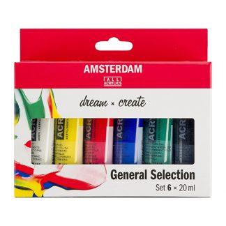 Talens Amsterdam akrilfesték, 6 db-os készlet