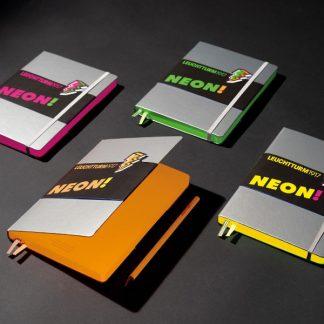 Leuchtturm Medium Notebook, pontozott lapok, neon színek