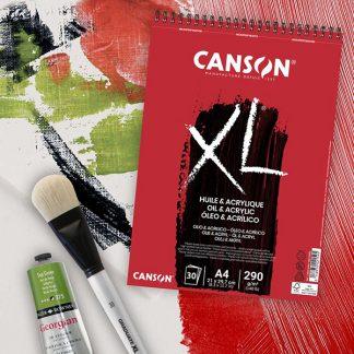 Canson XL olaj-és akriltömb