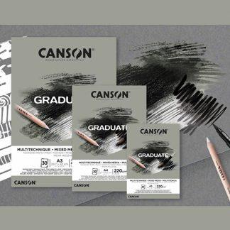 Canson Graduate Mix-Media, színezett lapos